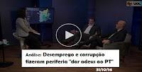 """Análise: Desemprego e corrupção fizeram periferia """"dar adeus ao PT"""""""