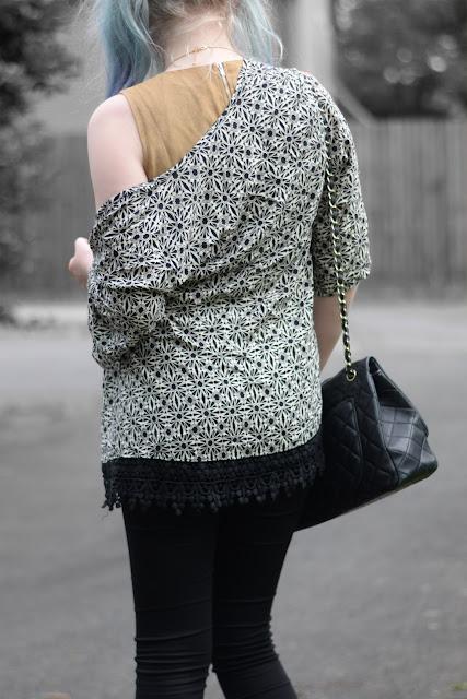 Sammi Jackson - Choies Aztec Kimono + Luxemme Faux Suede Crop