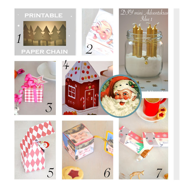 10 free printable Christmas templates - Weihnachten Bastelbogen - round-up