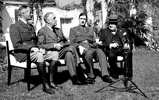 Conferencia de Casablanca; Giraud, Henri; Roosevelt, Franklin D .; Gaulle, Charles de; Churchill, Winston