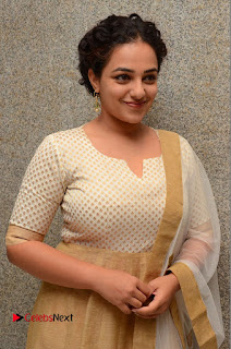 Actress Nithya Menen Pictures at 100 Days of Love Pre Release Press Meet  0035.JPG