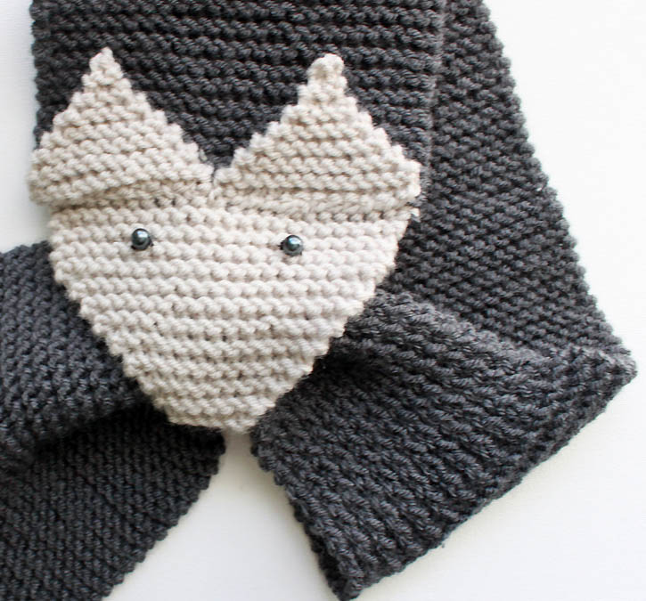 Knitting Pattern Fox Scarf : Fox Scarf Knitting Pattern- women & child sizes - Gina Michele