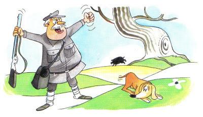 fabula el cazador y el perro