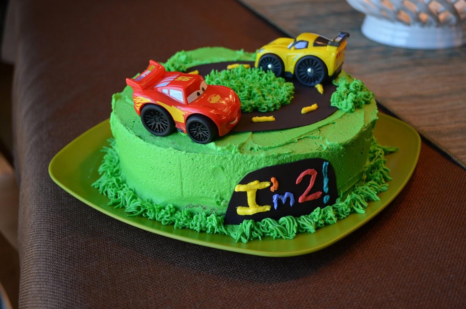 Laura S Home Kitchen Cars Cake 2nd Birthday Cake
