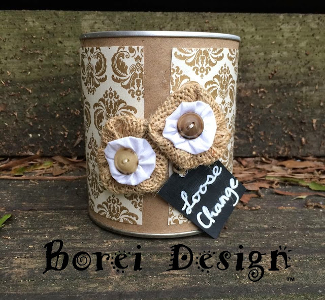 DIY Borei Design Recycled Fabric Yo yo Can Craft Tutorial