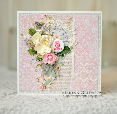 tender card by Marina Gridasova @akonitt #card #cards #studio75 #flower #flowers #by_marina_gridasova #magnolia #crafting #papercrafting #cardmaking #alicesdreams #foamiran