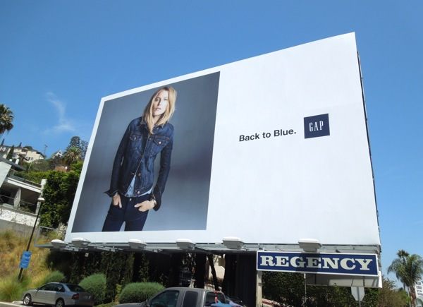 Gap Back to blue billboard