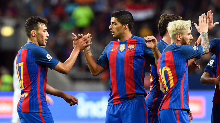 Barcelona beat Leicester City 4 – 2