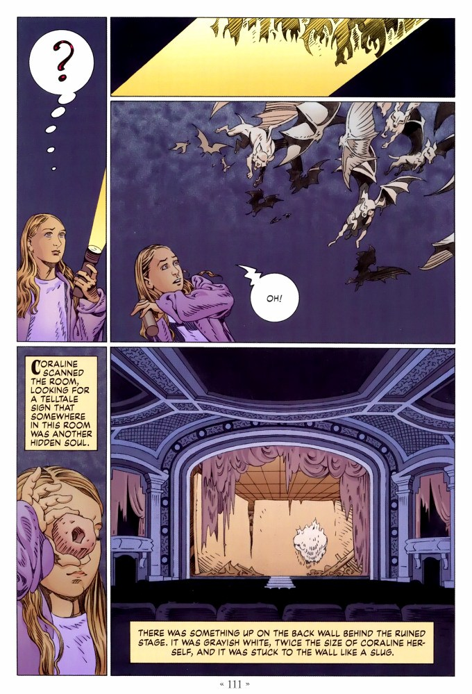 Read page 111, from Nail Gaiman and P. Craig Russell's Coraline graphic novel