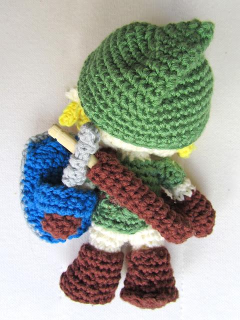 Link de amigurumi. Legend of Zelda