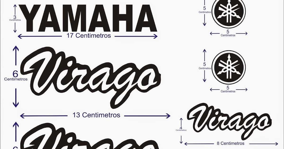 PEGAMAX 33 Adhesivos Para Motos: ADHESIVOS YAMAHA VIRAGO