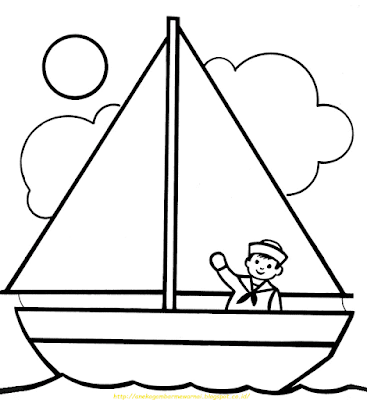 Mewarnai Gambar Kapal Laut - 18