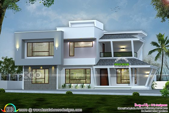 2892 sq-ft modern house with construction cost