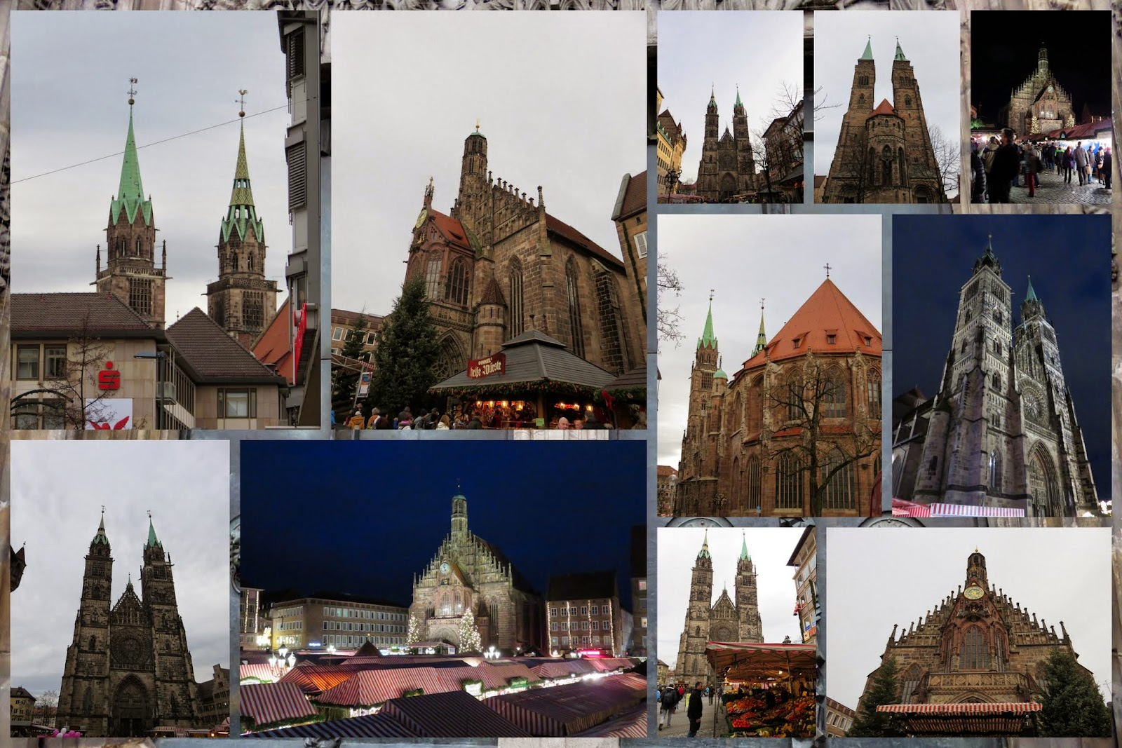 Nuremberg Christmas Market - Church Spires