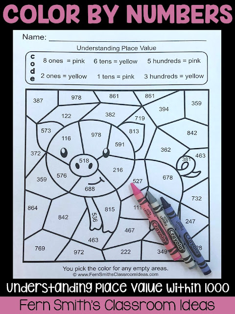 2nd Grade Go Math 2.5 Place Value to 1,000 Color By Numbers This bundle has task cards, color by number printables and center games for Second Grade Go Math 2.5 Understanding Place Value Within 1000. You will love how easy it is to prepare this easy to prep bundle for your math class. Perfect for small groups, read the room, centers, scoot, tutoring, Around the World whole class game, homework, seat work, so many ways to use these task cards that the possibilities are endless. Your students will enjoy the freedom of independent learning with these color by code worksheets and reviewing important skills with the center games! Perfect for an assessment grade for the week or for a substitute teacher day!