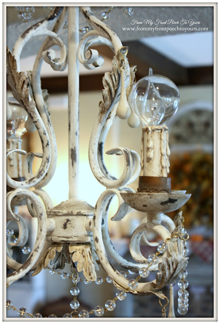 French Chandelier-Faux Finish-Chalk Paint- From My Front Porch To Yours