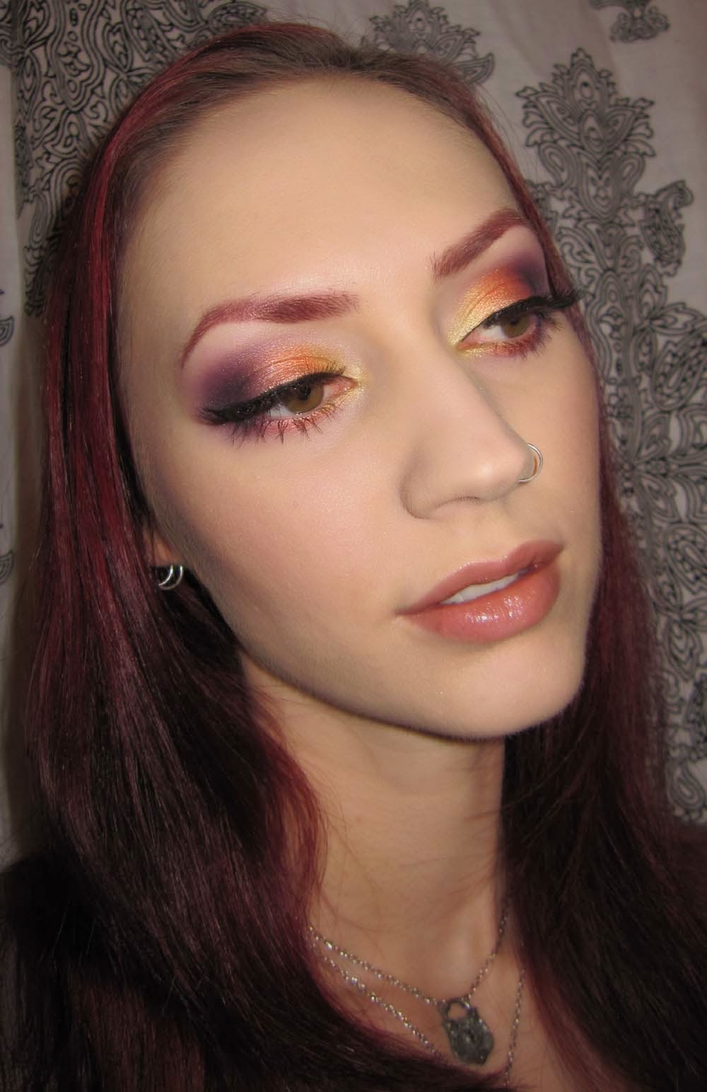 Glitter Is My Crack Sunset Eye Makeup Look-5170