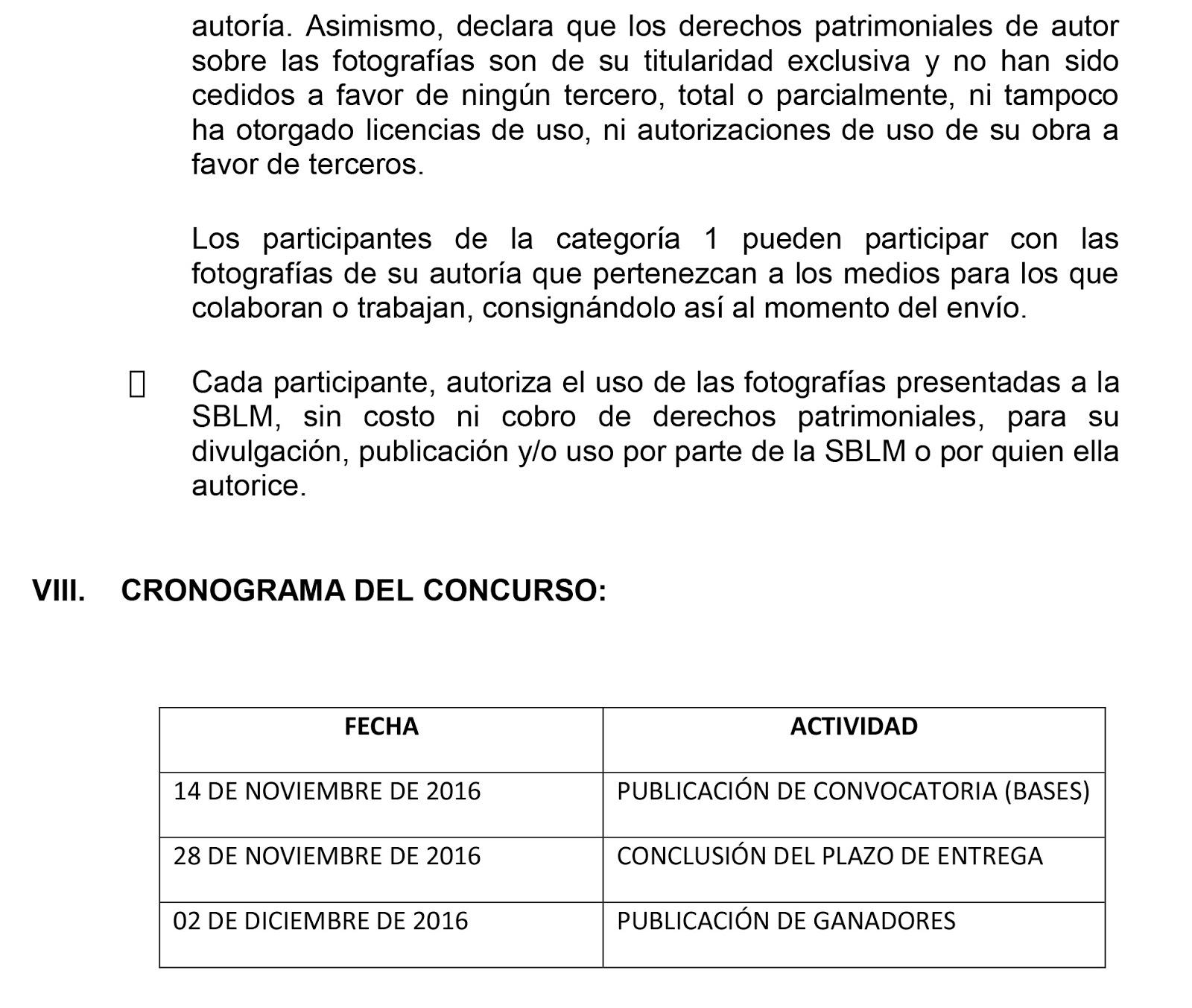 El taurino de lima convocatoria bases concurso de for Convocatoria concurso de docentes 2016
