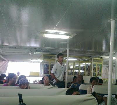 Inside Jomalia's economy class