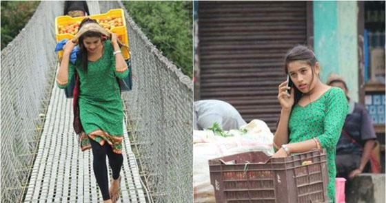 Foto Tarkariwali, Penjual Sayur Berwajah Cantik Jadi Viral di Facebook