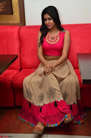 Akshita super cute Pink Choli at south indian thalis and filmy breakfast in Filmy Junction inaguration by Gopichand ~  Exclusive 093.JPG