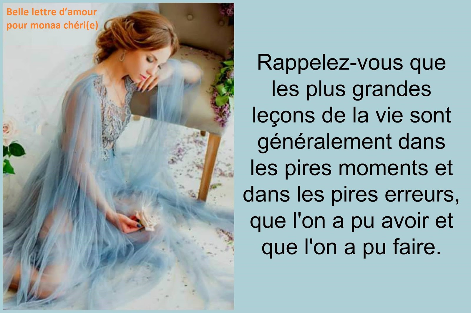 Belle Lettre Damour Pour Monma Chérie Mot Damour