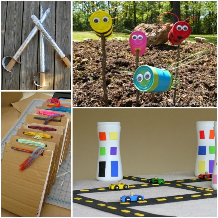 Recycle or upcycle craft for kids