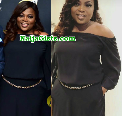 funke akindele steps out with flat tummy