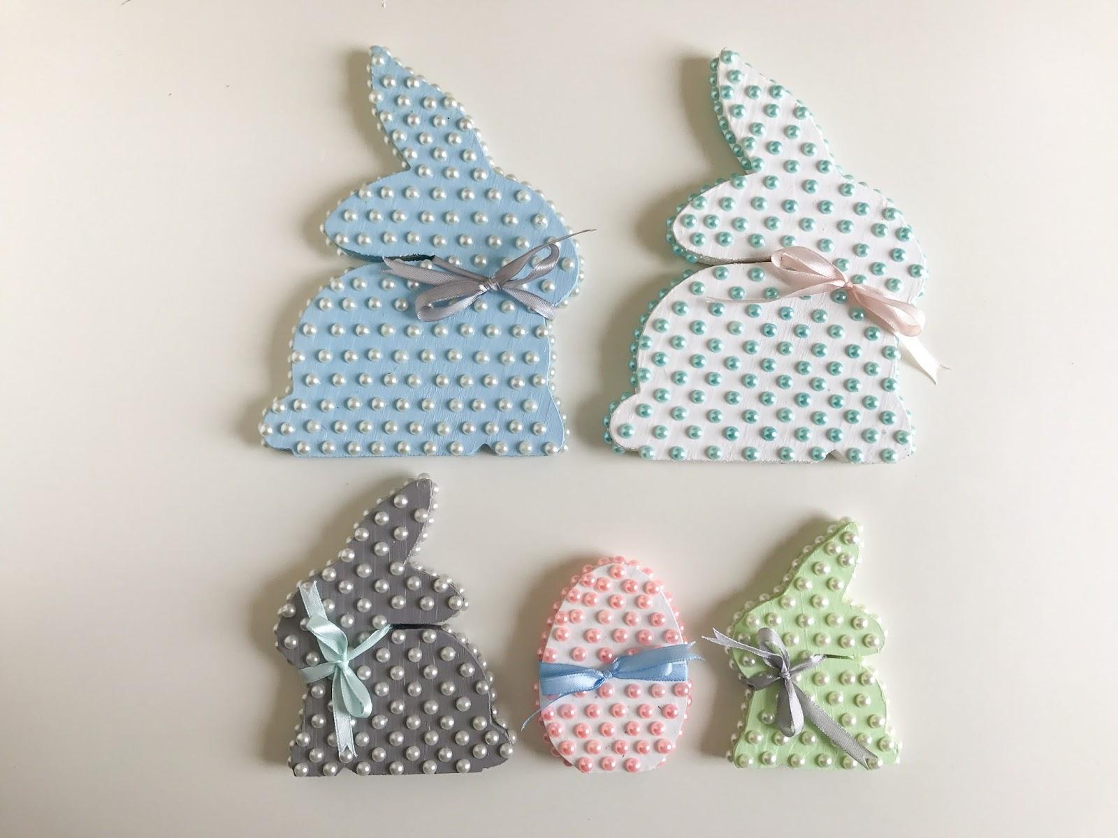 DIY: Pastelowe króliczki wielkanocne z perełkami