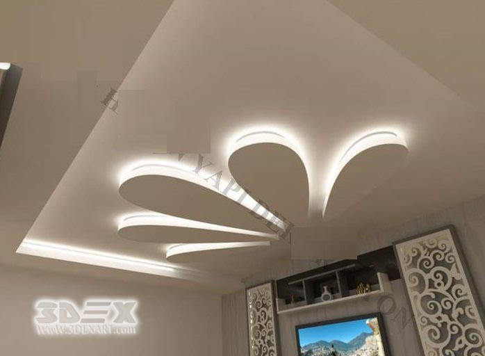 New pop false ceiling designs 2019 pop roof design for - Latest ceiling design for living room ...