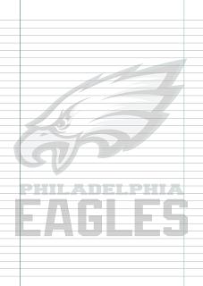 Folha Papel Pautado Philadelphia Eagles PDF para imprimir na folha A4