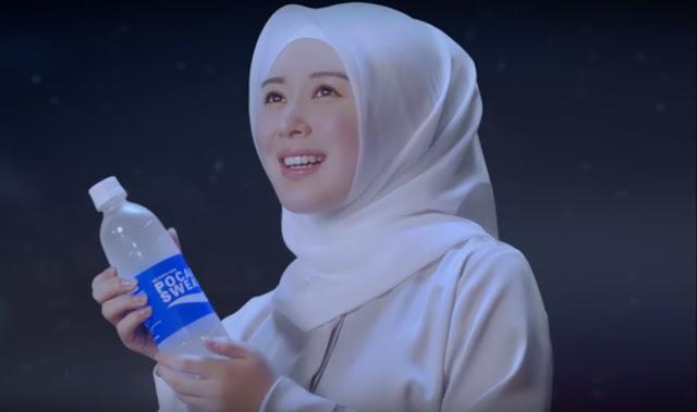 artis cewek cantik korea hijab iklan pocari