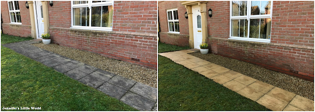 Pressure washer before and after