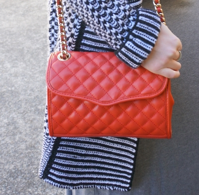Rebecca Minkoff mini quilted affair bag in fire engine red