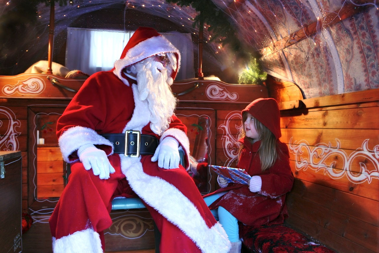 bolton abbey meet santa and reindeer