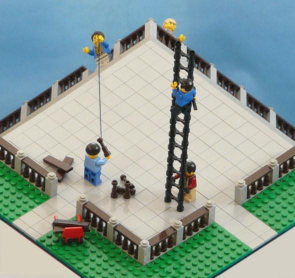 Ilusão de óptica com Lego