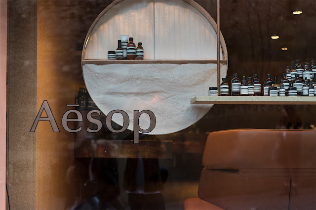 aesop store in geneva switzerland shop window