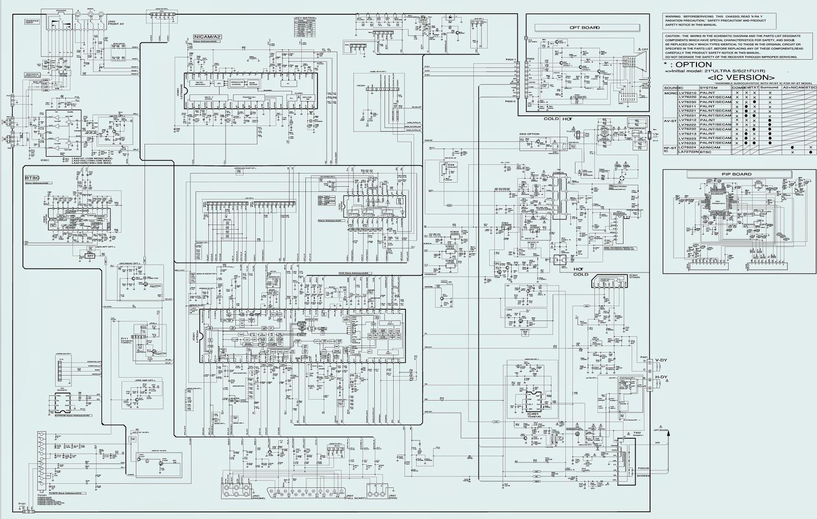 lg ctv circuit diagram