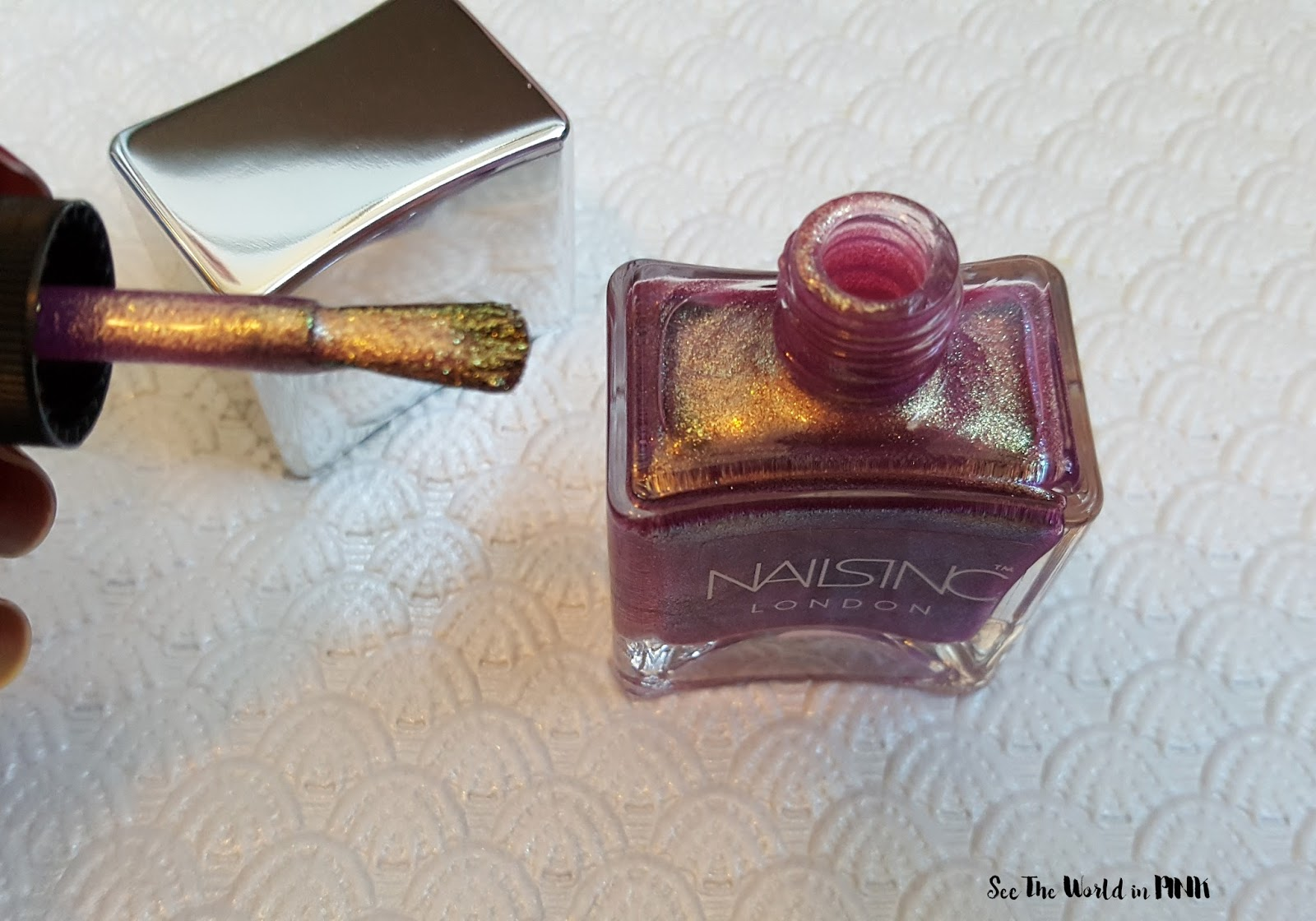 """Manicure Tuesday - Nails Inc Unicorn Nail Polish Duo """"Rainbow Wishes"""" and """"Dream Dust"""" Swatches"""