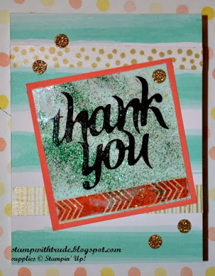http://stampwithtrude.blogspot.com Stampin' Up! paper pumpkin thank you card by Trude Thoman