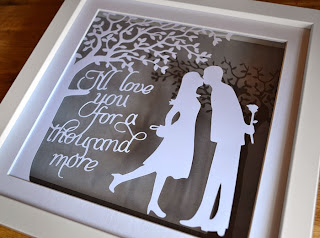 personalised anniversary paper cutting