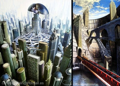 00-Carlos-Galvan-Fantasy-Cityscapes-depicted-in-Paintings-www-designstack-co
