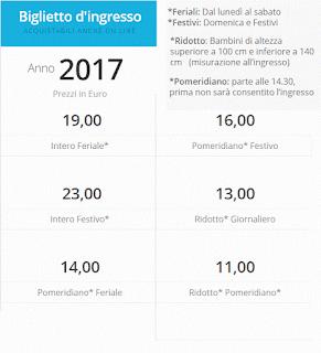 Tariffe Acquatica Park 2017