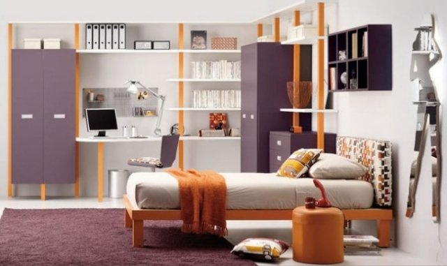 This room is in a retro classic that theme. The colors used are for much in the mood of the room. An interesting idea