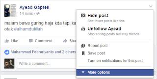 embed status facebook