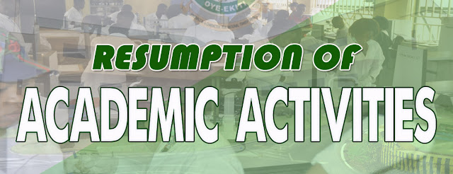 FUOYE Resumption Date For 2018/2019 Session