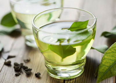 Drinking green tea for overall healthy skin