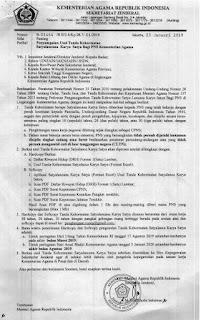 Penyampaian Usul Tanda Kehormatan Satyalancana Karya Satya bagi PNS Kementerian Agama
