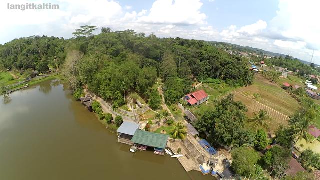 Foto Udara Waduk Panji Sukarame Salah Satu Wisata Kota Tenggarong