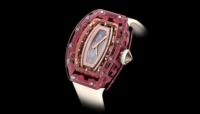Richard Mille 07-02 Pink Lady Sapphire Automatikuhr